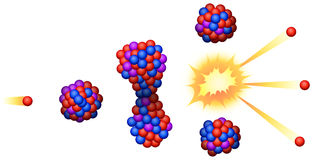Nuclear Fission. Illustration of the nuclear fission vector illustration