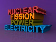 Nuclear fission power and electricity Royalty Free Stock Photography