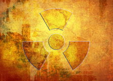 Nuclear, grunge background Stock Photos