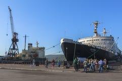 Nuclear Icebreaker Lenin Murmansk in Russia Stock Photo