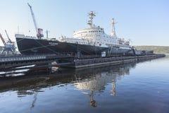 Nuclear Icebreaker Lenin Murmansk in Russia Stock Image