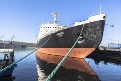 Nuclear Icebreaker Lenin Murmansk in Russia Royalty Free Stock Photography