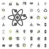 Nuclear icon. Eco and Alternative Energy vector icon set. Energy source electricity power resource set vector. Nuclear icon. Eco and Alternative Energy vector Stock Photography
