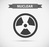 Nuclear icon in grayscale Royalty Free Stock Images