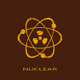 Nuclear icon Stock Images