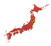 Nuclear influence in japan Stock Image