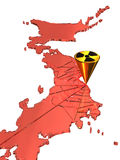 Nuclear influence in japan Stock Images