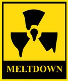 Nuclear meltdown sign Royalty Free Stock Photos