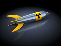 Nuclear missile vector illustration