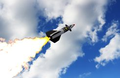 Nuclear missile. 3D render Stock Images