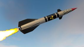 Nuclear missile. 3D render Stock Photography