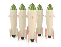 Nuclear missiles Royalty Free Stock Images