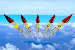 Nuclear missiles Royalty Free Stock Photos