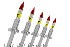 Nuclear missiles Stock Images