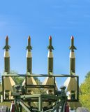 anti aircraft missiles stock image