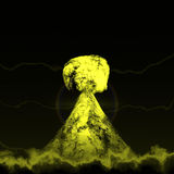 Nuclear mushroom. Rising over land Stock Images