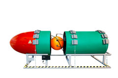 Nuclear nuclear warhead isolated on white background Royalty Free Stock Photo