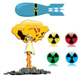 Nuclear objects Stock Images