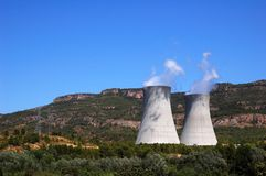 Nuclear plant Royalty Free Stock Images