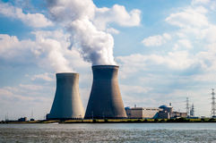 Nuclear plant, Belgium Royalty Free Stock Photography