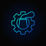 Nuclear plant in cog blue icon Royalty Free Stock Photography