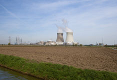 Nuclear plant in Doel Stock Photography