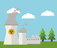 Free Nuclear Plant Energy Power Landscape Royalty Free Stock Photography - 81783037