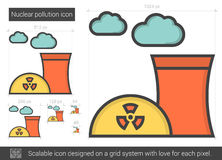 Nuclear pollution line icon. Stock Photography