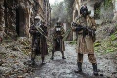 Nuclear post-apocalypse survivors Stock Image