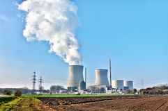 Nuclear power. A photography of nuclear power in Germany Gundremmingen Royalty Free Stock Photo