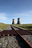 Nuclear Power Cooling Towers Stock Photo