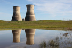 Nuclear Power Cooling Towers Royalty Free Stock Photo