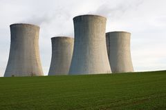 Nuclear power cooling towers Royalty Free Stock Image