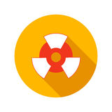 Nuclear power flat icon Royalty Free Stock Photos
