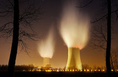 Nuclear power four Royalty Free Stock Image