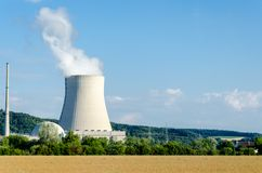 Nuclear power in Germany. The nuclear power plant in Germany Royalty Free Stock Photo