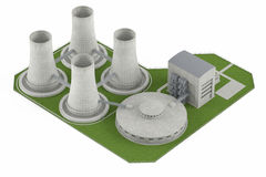 Nuclear Power Plan isolated Stock Photo
