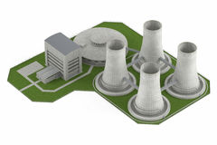 Nuclear Power Plan isolated Royalty Free Stock Photography