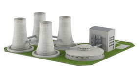 Nuclear Power Plan isolated Royalty Free Stock Photos