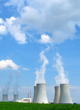 Nuclear power plant. View on nuclear power plant in sunny weather. Dukovany, Czech Republic, EU Royalty Free Stock Images