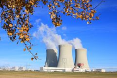 Nuclear power plant. Royalty Free Stock Photos