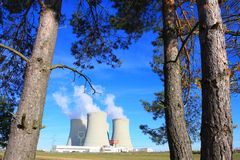 Nuclear power plant. Royalty Free Stock Image