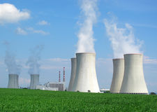 Nuclear power plant. Dukovany, Czech Republic, European Union royalty free stock photos