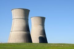 Nuclear power plant. Image of abandoned nuclear power plant Stock Photo