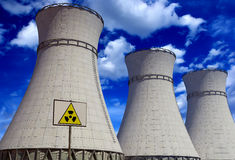 Nuclear power plant. Royalty Free Stock Images