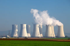 Nuclear power plant. Stock Photo