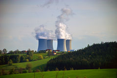 Nuclear Power Plant 2 Royalty Free Stock Photos