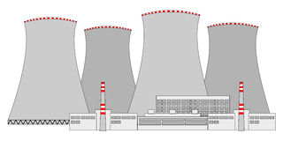 Nuclear power plant. A illustration of nuclear plant Royalty Free Stock Photos