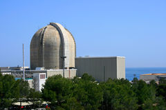 Nuclear power plant. By the sea in Vandellos (Tarragona, Spain Stock Photo