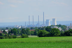 Nuclear power plant. Royalty Free Stock Photography